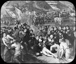 Admiral Lord Nelson wounded at the Battle of Trafalgar Wall Art & Canvas Prints by Benjamin West