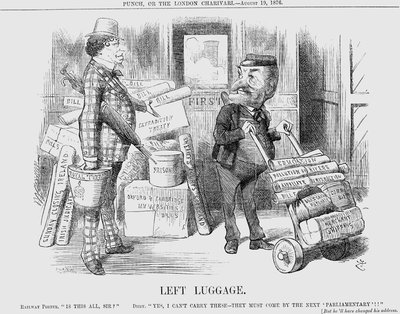 Left Luggage Poster Art Print by Joseph Swain