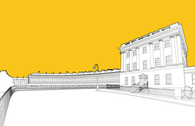 Royal Crescent Wall Art & Canvas Prints by People Will Always Need Plates