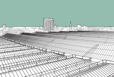 Waterloo Station Roof Fine Art Print by People Will Always Need Plates