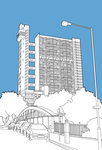 Trellick Tower Fine Art Print by People Will Always Need Plates