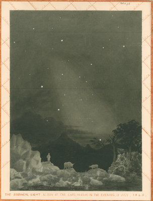 'The zodiacal light as seen at the Cape' by Charles Piazzi Smyth - print