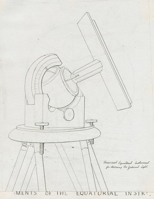 Instrument for observing zodiacal light by Charles Piazzi Smyth - print