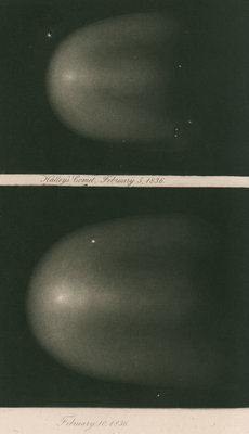 Halley's Comet, 5 and 10 February 1836 by James Basire III - print