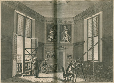 The Octagon Room at the Royal Observatory, Greenwich by Francis Place - print