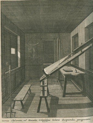 Method of observing the Sun at the Royal Observatory, Greenwich by Francis Place - print