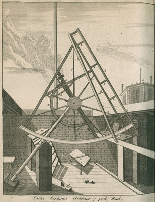 Equatorial sextant at the Royal Observatory, Greenwich by Francis Place - print