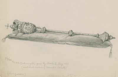 The Royal Society's mace by unknown - print
