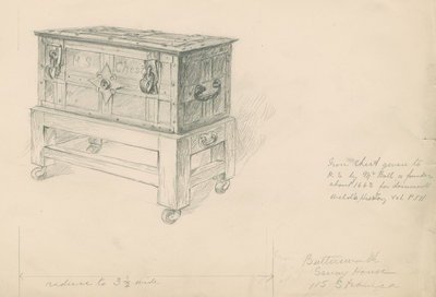 The Royal Society's iron chest by unknown - print