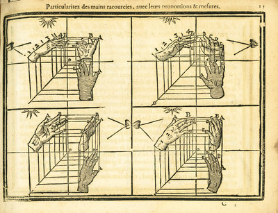 Movement and perspective of the hand by unknown - print