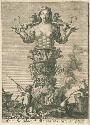 An allegory of chemistry and nature by unknown - print