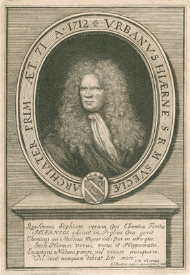 Portrait of Urban Hjarne (1641-1724) by Elias Brenner - print