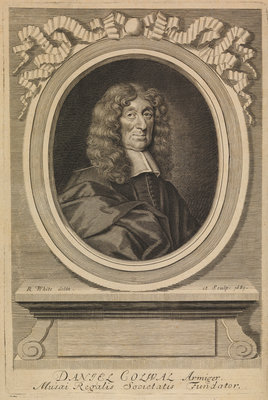 Portrait of Daniel Colwall (d.1690) by Robert White - print