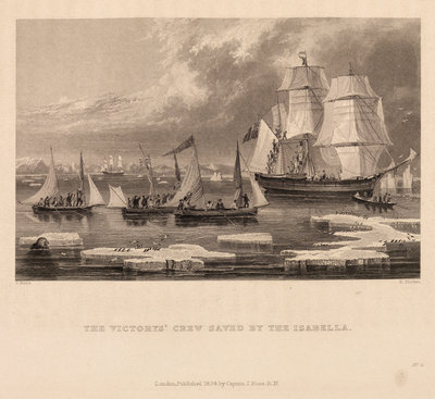 The Victory's crew saved by the Isabella by Edward Francis Finden - print