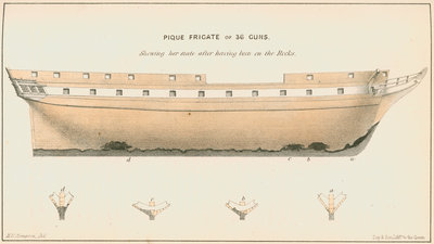 The frigate 'Pique' by Anonymous - print