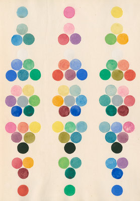Colour spot chart by Anonymous - print