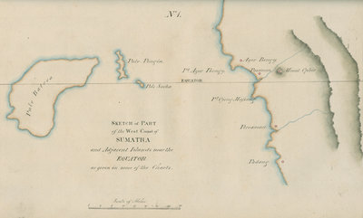 Chart of Western Sumatra by unknown - print