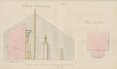 Temporary observatory for pendulum observations, Sumatra by unknown - print