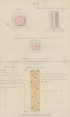 Fixtures for pendulum clock and transit instrument, Sumatra by unknown - print