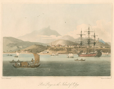'Porto Praya in the Island of St. Jago' by Thomas Medland - print