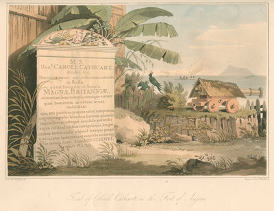 'Tomb of Colonel Cathcart in the Fort of Anjerie' by Thomas Medland - print