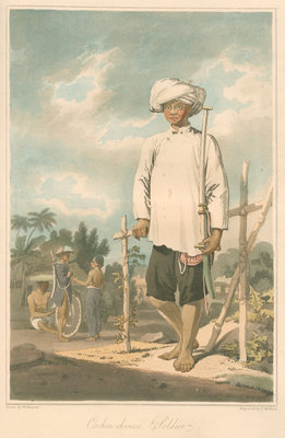 'Cochin-chinese soldier' by Thomas Medland - print