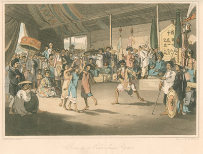 'Scene in a Cochin-chinese Opera' by Thomas Medland - print