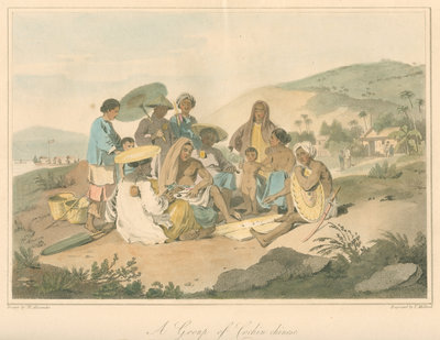 'A Group of Cochin chinese' by Thomas Medland - print