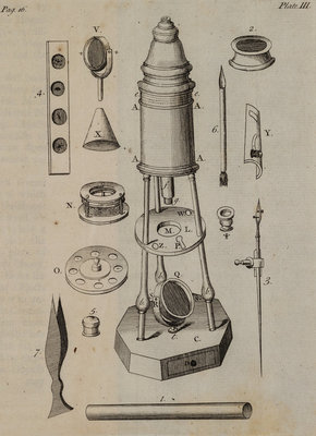Double reflecting microscope by unknown - print