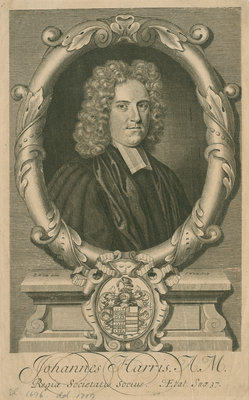 Portrait of John Harris (1661-1719) by George White - print