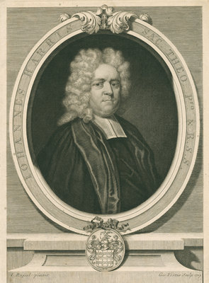 Portrait of John Harris (1661-1719) by George Vertue - print