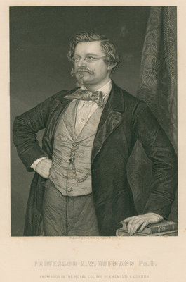 Portrait of August Wilhelm Hofmann (1818-1982) by Cook - print