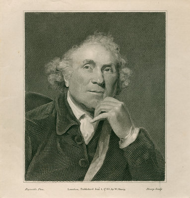 Portrait of John Hunter (1728-1793) by William Sharp - print