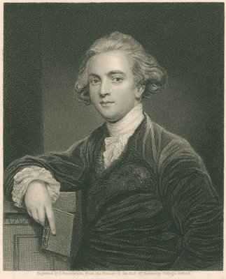 Portrait of Sir William Jones by James Posselwhite - print