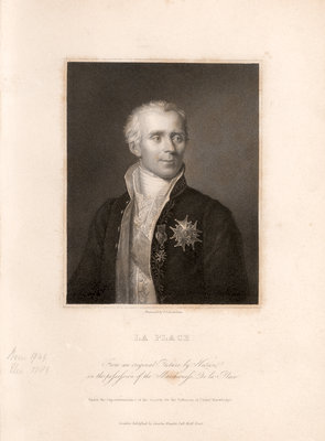 Portrait of Pierre-Simon Laplace (1749-1827) by James Posselwhite - print