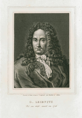Portrait of Gottfried Wilhelm Leibniz (1646-1716) by Philibert Boutrois Adam - print