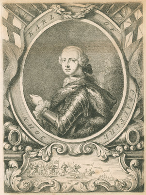 Portrait of John Lindsay, 20th Earl of Crawford (1720-1749) by Thomas Worlidge - print