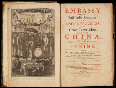Title page to Nieuhoff's 'An embassy from the East-India Company' by Wenceslaus Hollar - print