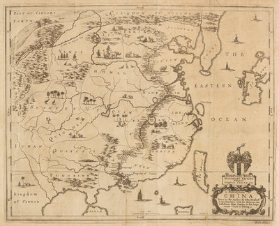 Map of China by Wenceslaus Hollar - print