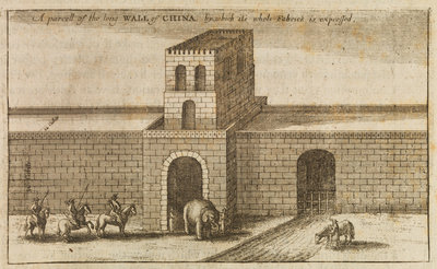 Great Wall of China by Wenceslaus Hollar - print