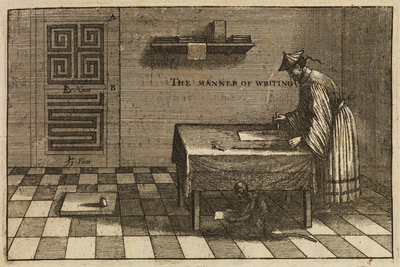 A method of Chinese writing by Wenceslaus Hollar - print
