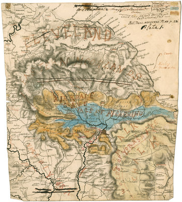 Map of Cleveland, Yorkshire and Kirkdale Cave by William Buckland - print