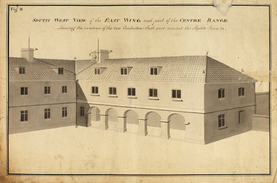 South west view of the East Wingà [of Heckingham Workhouse, Norfolk] by Anonymous - print