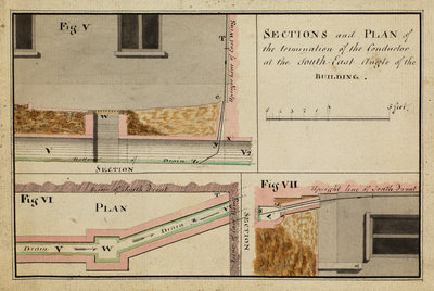 Sections and plan of the termination of the Conductorà [of Heckingham Workhouse, Norfolk] by Anonymous - print