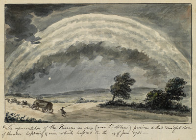Thunderstorm near St Albans, Hertfordshire by Anonymous - print
