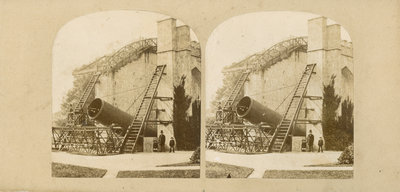 Lord Rosse's telescope at Birr Castle, Ireland by Countess Mary of Rosse - print