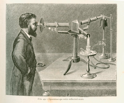 Spectroscope with reflected scale by C Laplante - print