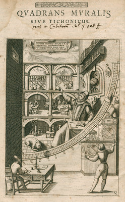 Tycho Brahe's mural quadrant by Anonymous - print