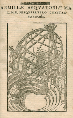 Tycho Brahe's great equatorial armillary instrument by Anonymous - print
