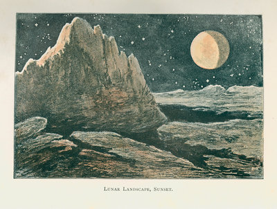 The lunar landscape 'at sunset' by Anonymous - print